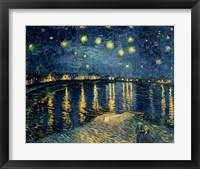 Starry Night over the Rhone, c.1888 Fine Art Print