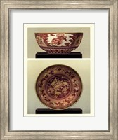 Oriental Bowl and Plate I Fine Art Print