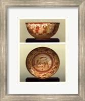 Oriental Bowl and Plate II Fine Art Print