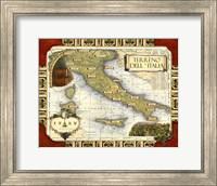 Medium Wine Map (H) I Fine Art Print