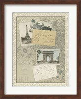 Vintage Map of Paris Giclee