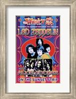 Led Zeppelin, Alice Cooper Fine Art Print