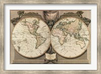 New Map of the World Fine Art Print