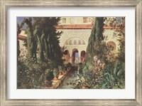 Der Garten des Generalife Bei Graneda Fine Art Print