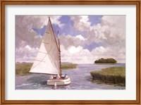 Catboat Through the Marsh Fine Art Print