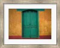 Turquoise Lintel, San Juan Ostuncalco, Guatemala Fine Art Print