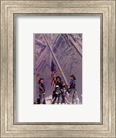 Firemen Raising the Flag at World Trade Center Fine Art Print