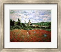 Field of Poppies, Vetheuil Fine Art Print