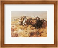 Indian Buffalo Hunt Fine Art Print
