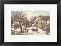 American Homestead Winter Fine Art Print