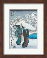 Women in the Snow at Fujisawa Fine Art Print