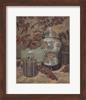 Eucalyptus with Lotus Vase Fine Art Print