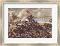 Storming Fort Wagner Fine Art Print