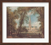 Salisbury Cathedral from the Bishops' Grounds Fine Art Print