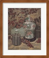Eucalyptus with Lotus Vase Fine Art Print