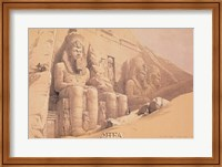 The Great Temple of Aboo Simble Fine Art Print
