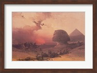 Approach of the Simoon, Desert of Gizeh Fine Art Print