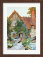 Outside the Cottage Fine Art Print
