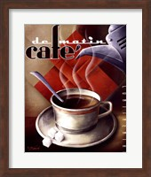 Cafe de Matin Fine Art Print