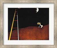 Dog Barking at the Moon Fine Art Print