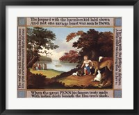 Peaceable Kingdom with Border Fine Art Print