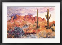 Superstition Sunset in March Fine Art Print