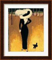 Parisienne (La Dame au Chien) Fine Art Print