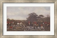 Sir Richard Sutton and the Quorn Hounds Fine Art Print