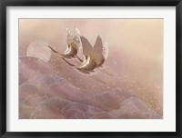 Cranes Over Waves Fine Art Print