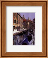 La Barche Sul Canale Fine Art Print