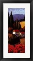 Tuscan Poppies Panel I Fine Art Print