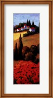 Tuscan Poppies Panel II Fine Art Print