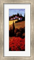 Tuscan Poppies Panel II Fine Art Print