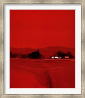 Paysage Dans Le Rouge Fine Art Print