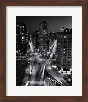 New York, New York, Flatiron Building at Night Fine Art Print