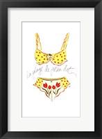 La Plage de Polka Dot Fine Art Print