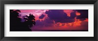 Sunset in the Maldives, North Indian Ocean Fine Art Print