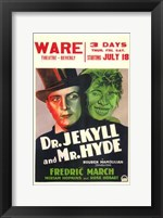 Dr Jekyll and Mr Hyde Theatre Wall Poster