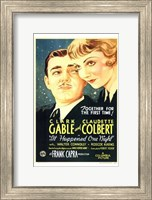 It Happened One Night Gable And Colbert Fine Art Print