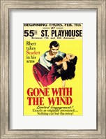 Gone with the Wind Vintage Theater Advertisement Yellow Wall Poster