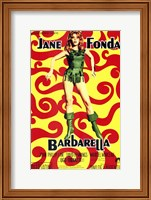 Barbarella Jane Fonda Psychedelic Wall Poster