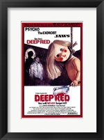 Deep Red Wall Poster