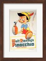 Pinocchio with Jiminy Cricket Wall Poster