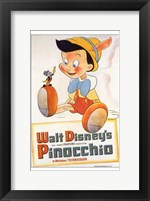 Pinocchio with Jiminy Cricket Wall Poster