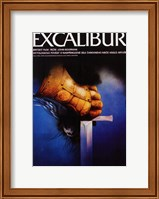 Excalibur Holding Sword Wall Poster