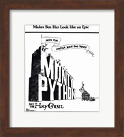 Monty Python and the Holy Grail - Black and White Wall Poster