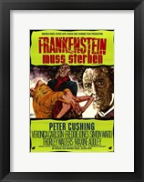 Frankenstein Must Be Destroyed Peter Cushing Wall Poster