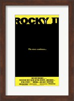 Rocky 2 The Story Continues... Wall Poster