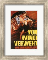 Gone with the Wind Vom Winde Verweht Wall Poster