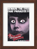 Children of the Damned Eyes That Paralyze Wall Poster